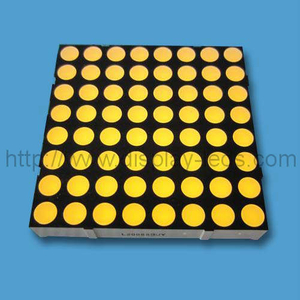 2 inch 8x8 LED Dot Matrix in geel